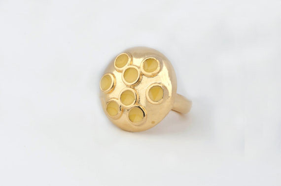 Dome Multi-Enamel Dot Ring (Sunshine)
