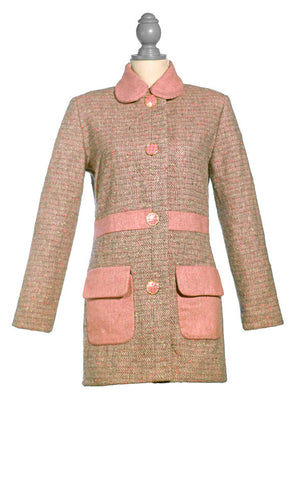 Short Pink and Grey Tweed