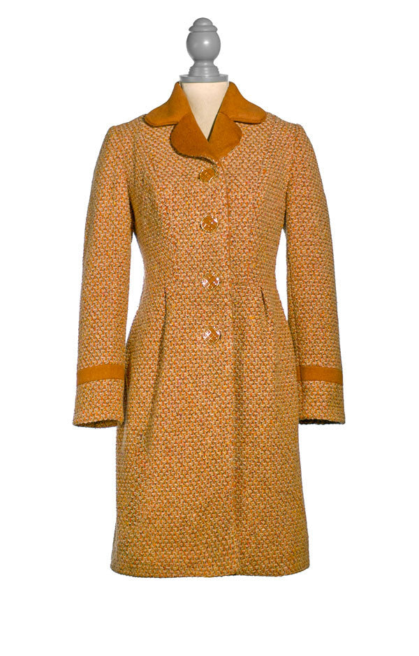 Long Cinnamon Tweed