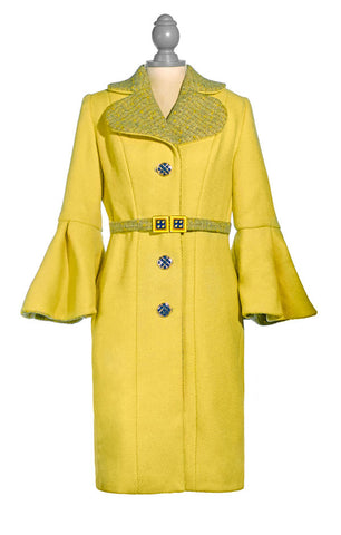Long Yellow with Grey Tweed Trim
