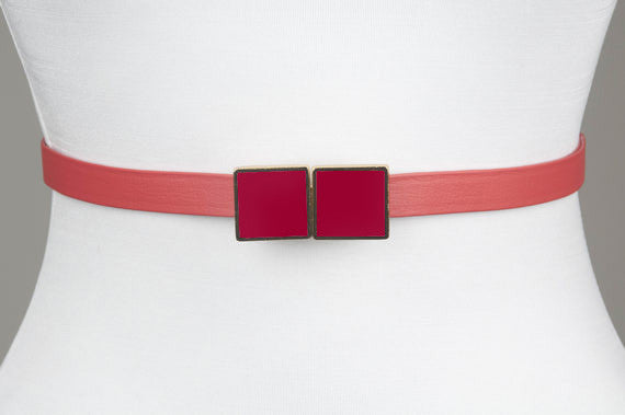 Square Enamel Buckle (Strawberry)
