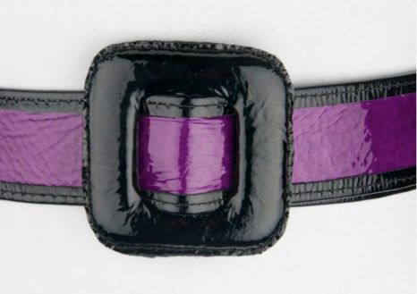 Patent Leather Belt in Purple and Black
