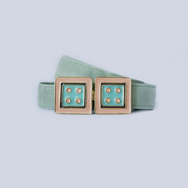 Large Square in Turquoise and Melon