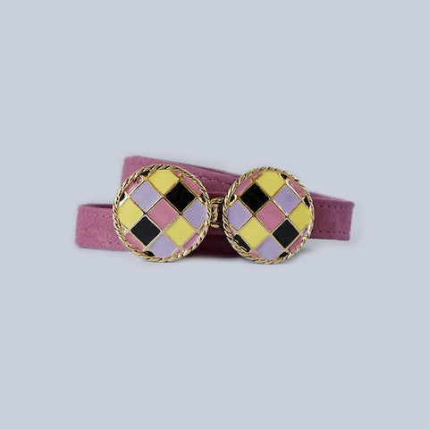 BasketWeave Buckle in Multi-Pastel