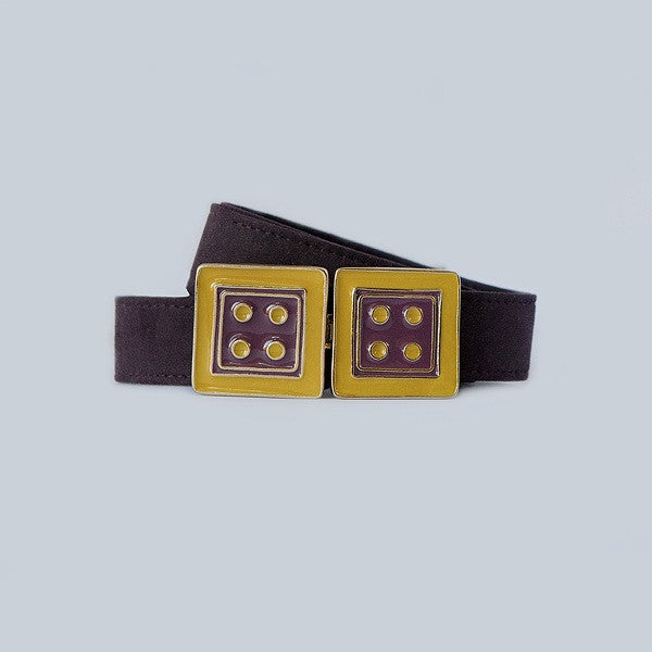 Large Square in Black Cherry and Honey Gold