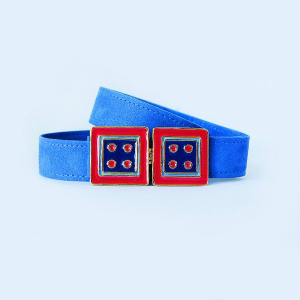 Large Square in Monaco Blue and Red