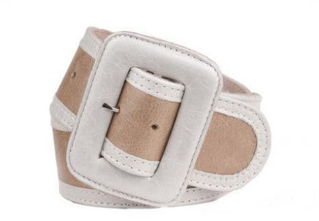 Keggy Girl Belt (Beige/White)