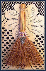 WITCHES ALTAR BESOM BROOM WITH FAIRY GODDESS CHARM ~Wicca,Travelling, Protection