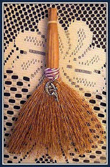 WITCHES ALTAR BESOM BROOM WITH FAIRY MOON CHARM ~ Wicca, Travelling, Protection