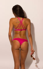 Load image into Gallery viewer, Magenta Bikini Thong Bottoms