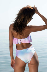 Rainbow Pastel Ruffle One Piece