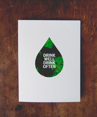 Greeting Card | Drink Well