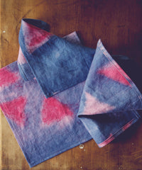 Linen Cocktail Napkins | ERMIE | Indigo & Cochineal