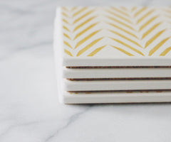 Coasters | theCoastal | Gold Palm