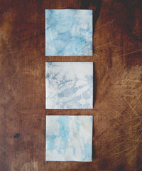 Tie-Dye Leather Coasters