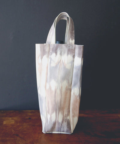Single Bottle Leather Wine Tote | Tie-Dye