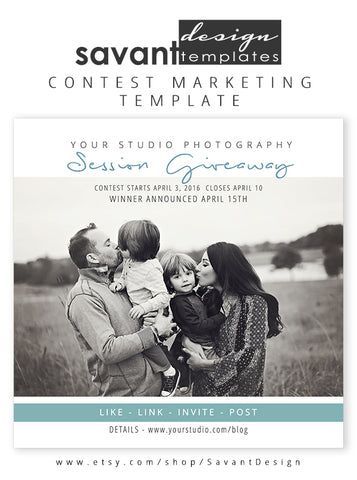 Free Photography Session Contest Template