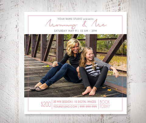Free Mommy & Me Mini Session Photoshop Template by Savant Design Templates