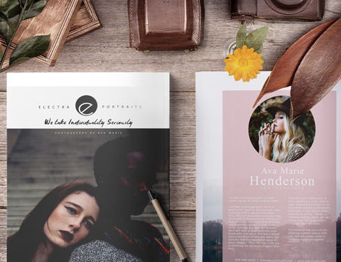 Portrait Photography Magazine, Photoshop Template, Digital Magazine for Photoshop, Photo Marketing Brochure and Price Guide Template, PM200