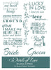 Word Art Digital Brushes & Overlays - All About Love