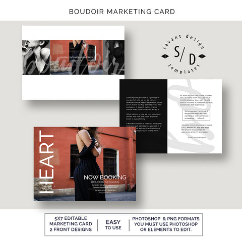 Boudoir Marketing Social Media Templates for Photographers