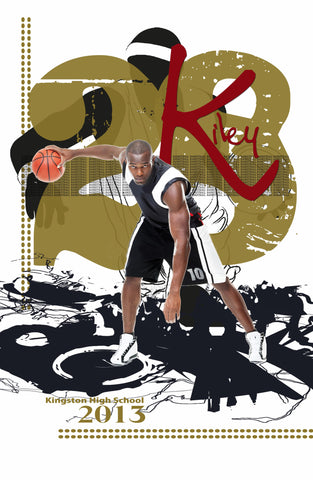 Savant Design Templates Guy's Basketball Poster