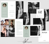 Boudoir Photography Templates, Photoshop Templates, Boudoir Trifold Brochure, Business Card, Gift Certificate, Thank You, BM600