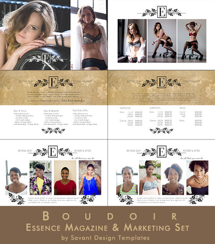 Boudoir Magazine Marketing Set