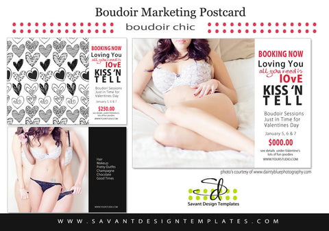 Boudoir Studio Marketing Card Loving You