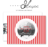 Candy Cane Stripe Photo Christmas Card by Savant Design Templates