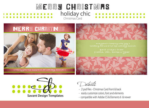 Savant Design Templates Merry Christmas Card Template