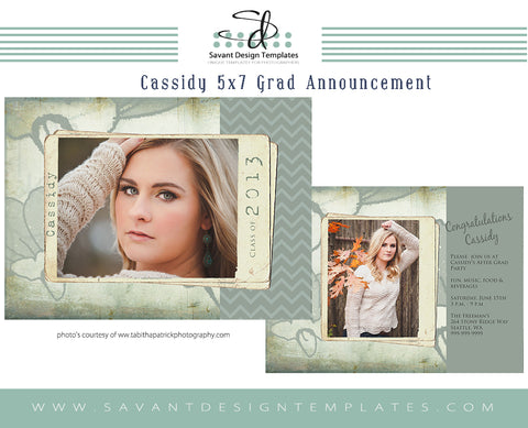 Grad Card Template - Cassidy
