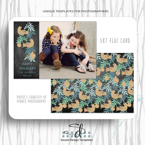 Patridge & the Pear Christmas & Holiday Card Template
