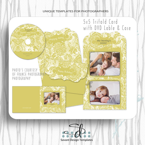 Happy Holidays Card Template Set for photographers by Savant Design Templates