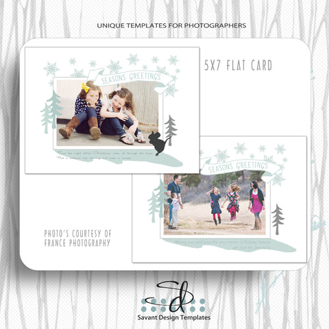 Seasons Greeting Christmas Card Photography Template by Savant Design Templates