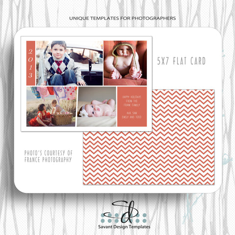 Christmas Photography Card Template Merry Christmas Family by Savant Design Templates
