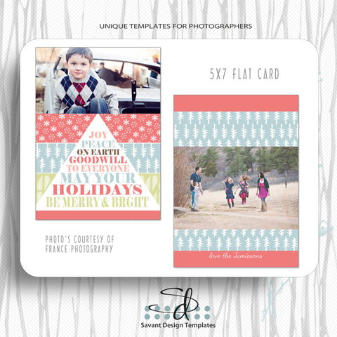 Christmas Card Photography Template - Peace by Savant Design Templates