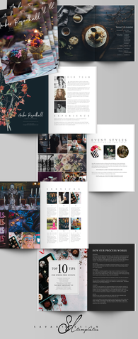 Wedding and Corporate Event Planner Business Templates, Marketing Magazine, Events Coordinators, Photoshop Templates, Marketing Set, Brochure, Flyer, PSD, EM100