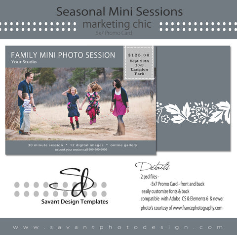 Family Seasonal Studio Marketing & Mini Sessions