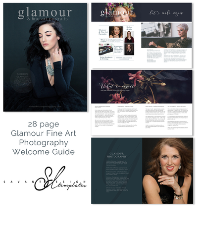 Photoshop Templates, Glamour Fine Art Photography Welcome Guide Magazine,Photography Marketing Magazine Template, GFAWG100