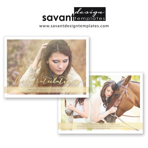 Senior Graduation Templates  Savant Design Templates