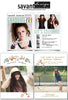 Graduation Card Template Collection, Modern Senior Grad Cards, 10 Announcement Cards - Modern Senior - 5 Guy & 5 Girls Cards