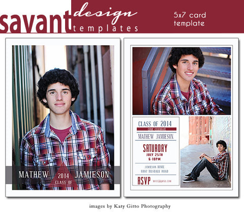 Copy of Graduation Announcement Card Template -  Grad Day 2