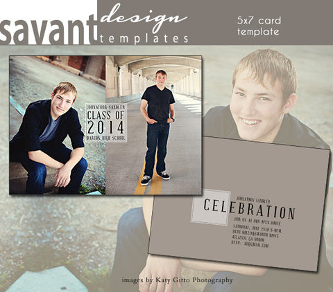 Graduation Announcement Card Template -  Grad Day 3