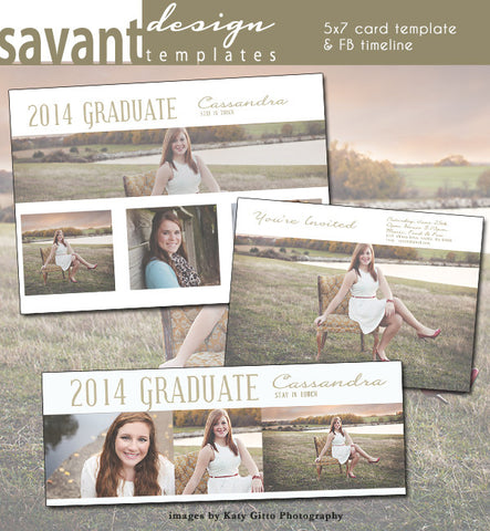 Graduation Announcement Card Template -  Grad Day 5