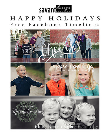 Free Facebook Timeline Templates from Savant Design Templates - Happy Holidays