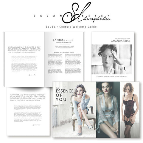 Boudoir Welcome Guide InDesign Photography Marketing Template A Customizable That Includes Price