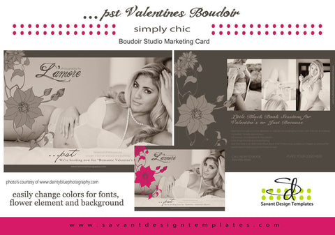 Boudoir Studio Marketing Card L'Amore