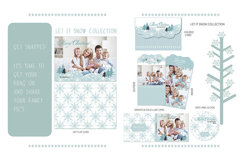 Christmas Photography Template Let it Snow by Savant Design Templates