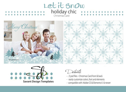Let it Snow Christmas 2012 Card Template